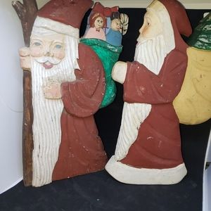 None Holiday - Christmas Santas wooden I believe.